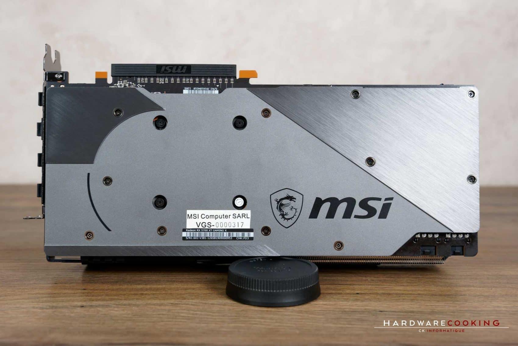 backplate MSI RX 5700 XT