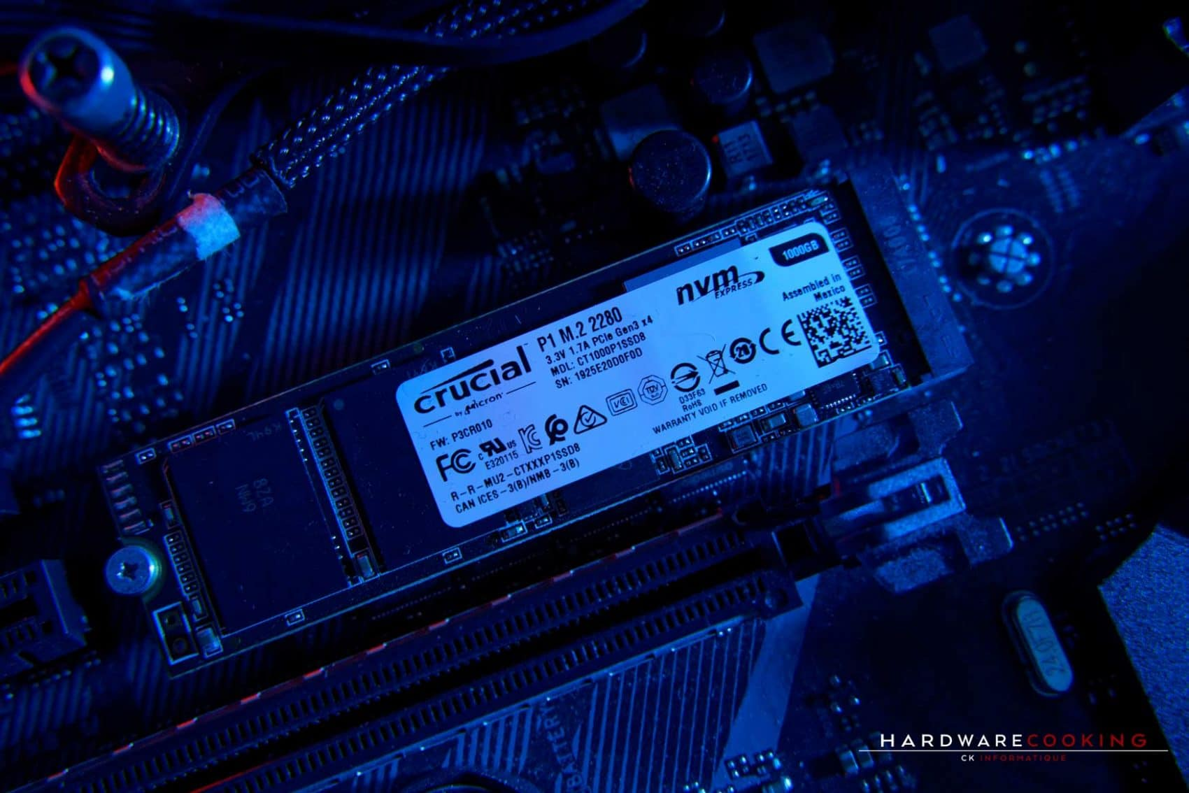 Test SSD Crucial P1 1 To
