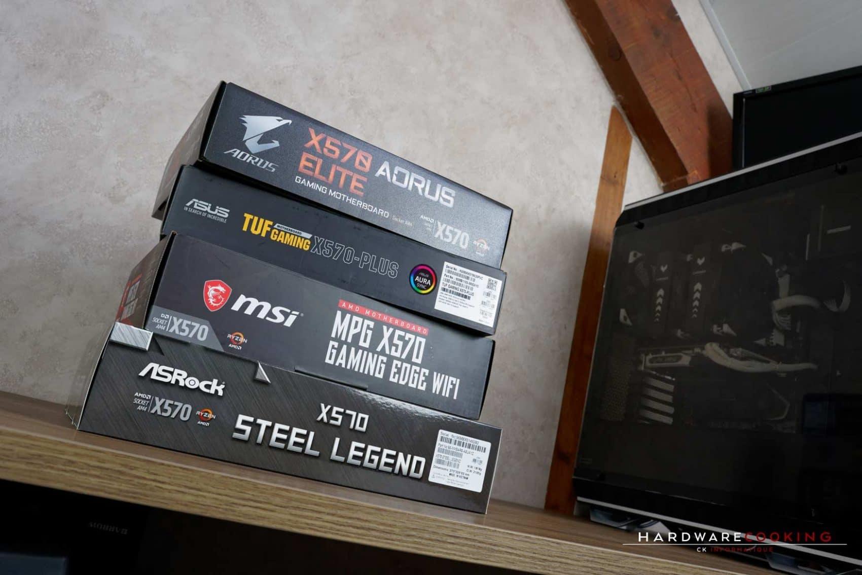 Test température VRM carte mère AMD X570