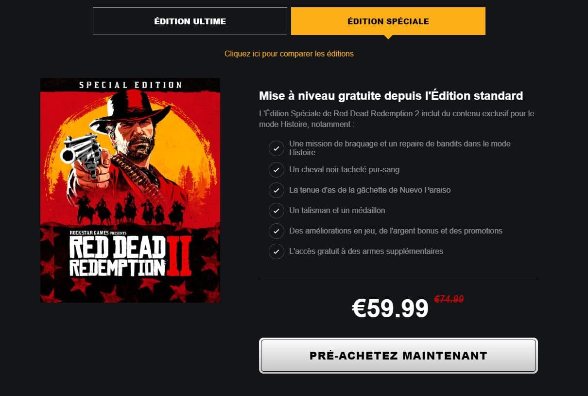 edition speciale red dead redemption 2