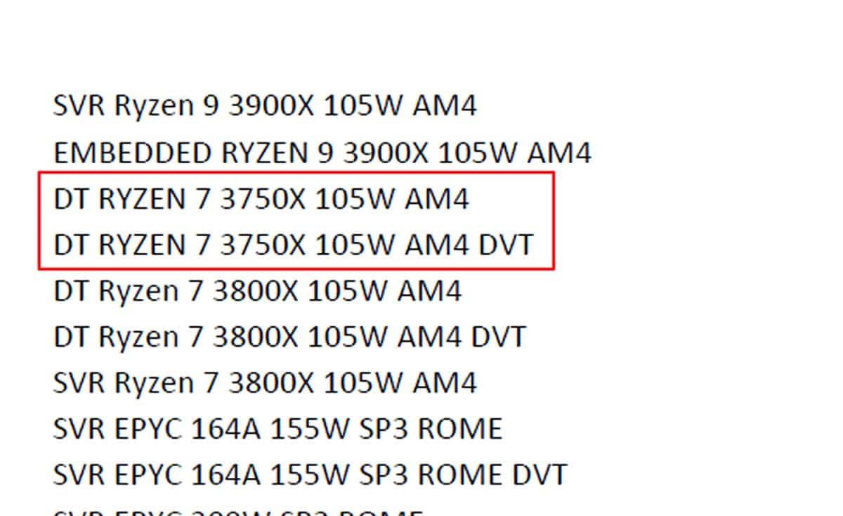 AMD ryzen 7 3750X