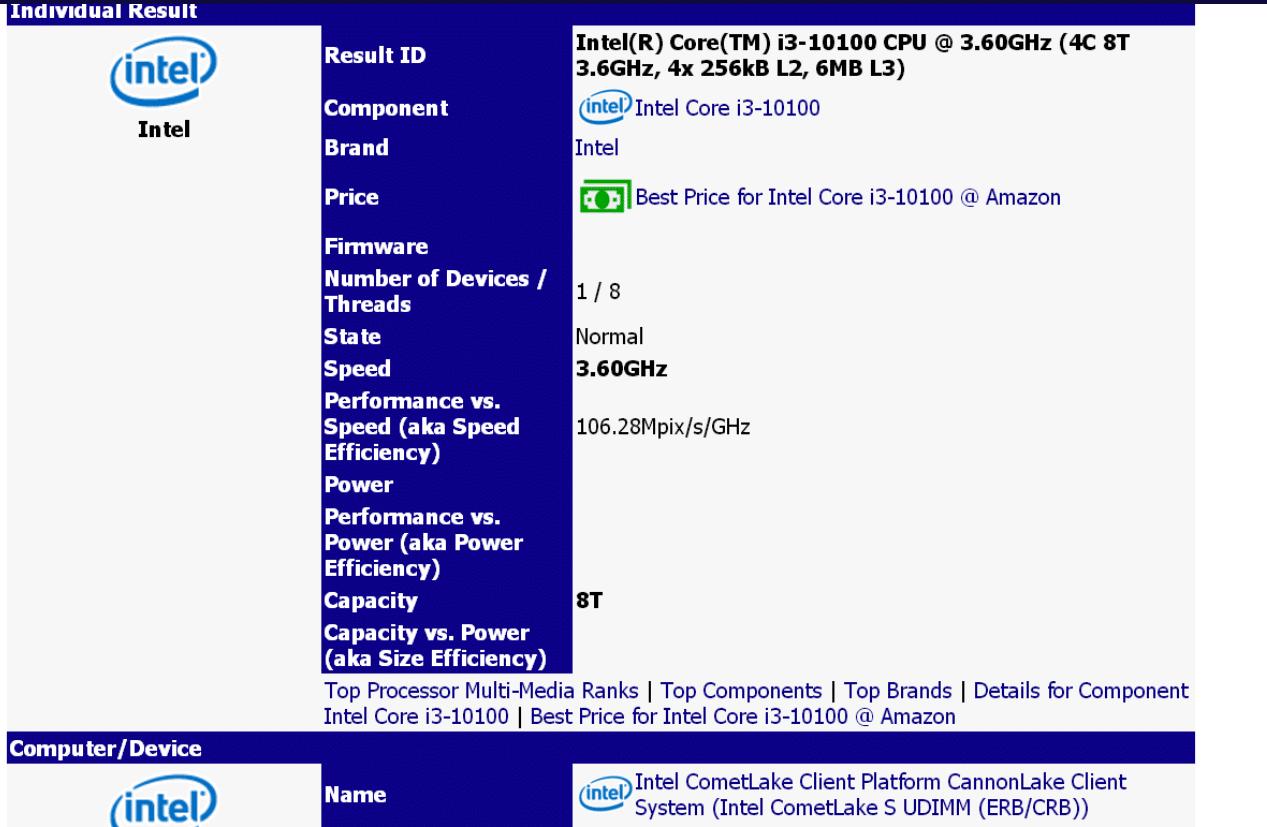Processeur Intel Core i3-10100