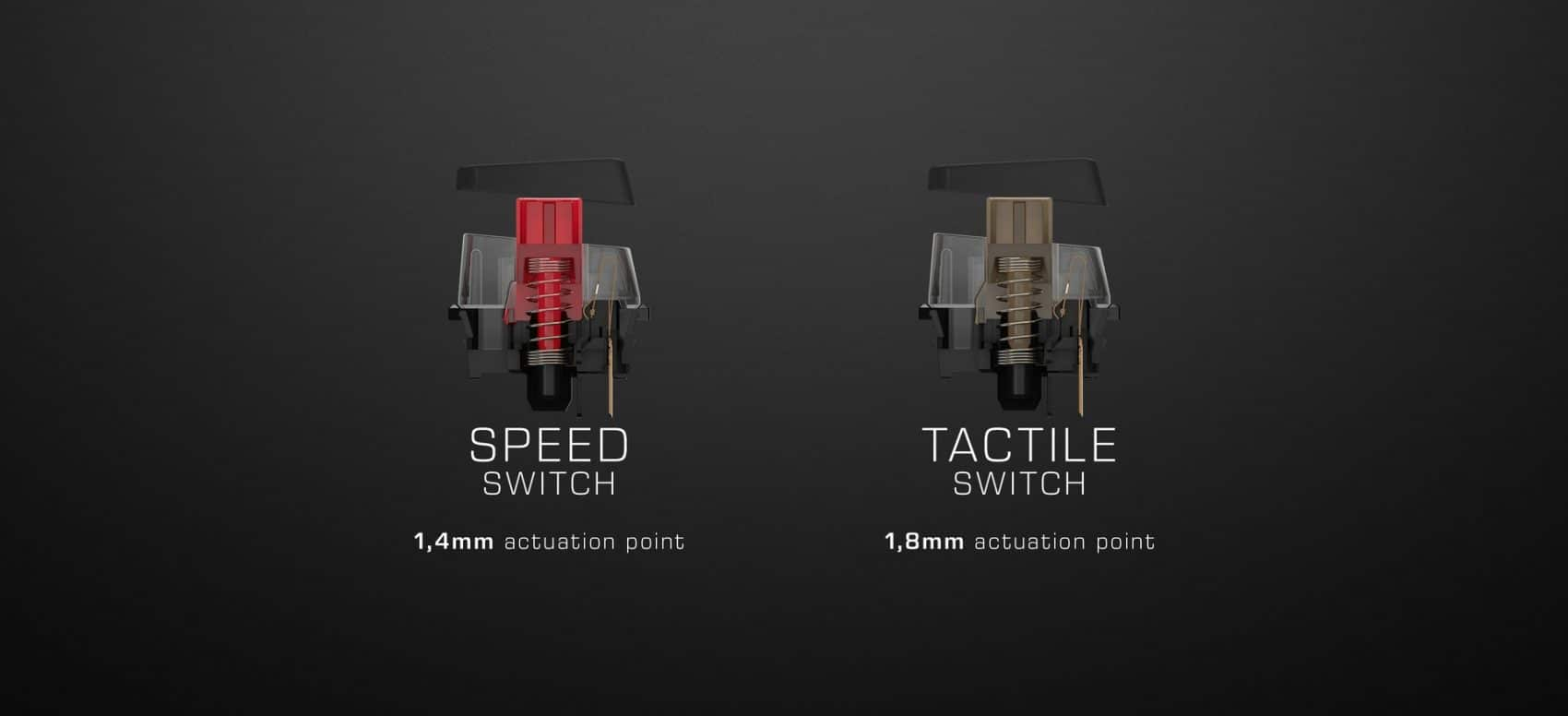commutateurs Titan Switch Speed et Titan Switch Tactile