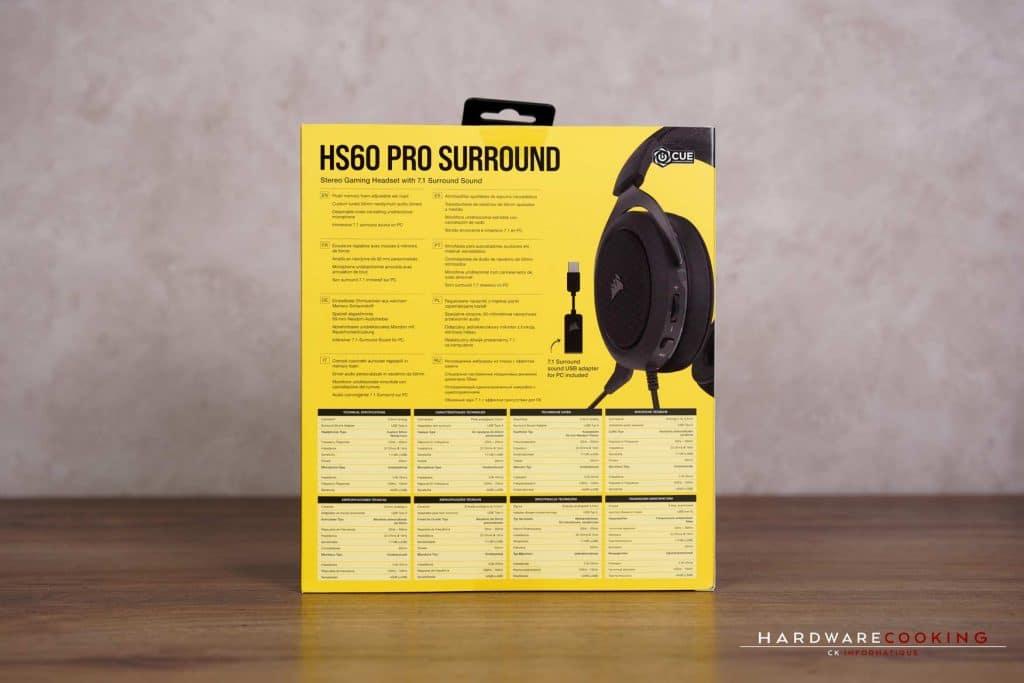 Test casque Corsair HS60 PRO SURROUND
