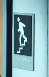 Image panneau exit only en UHD