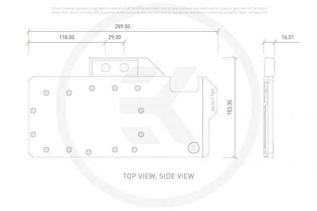 Dimensions EK Quantum Vector FTW3 RTX 2080 TI