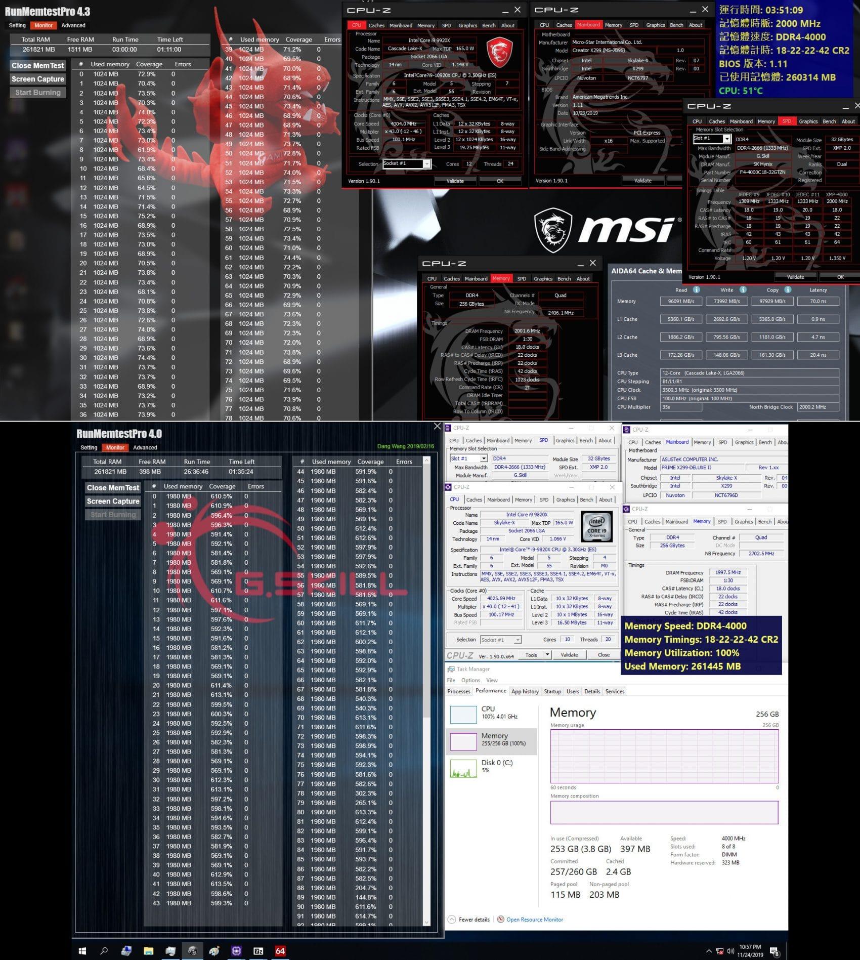 G.Skill Intel DDR4 4000 Mhz CL18-22-22-42