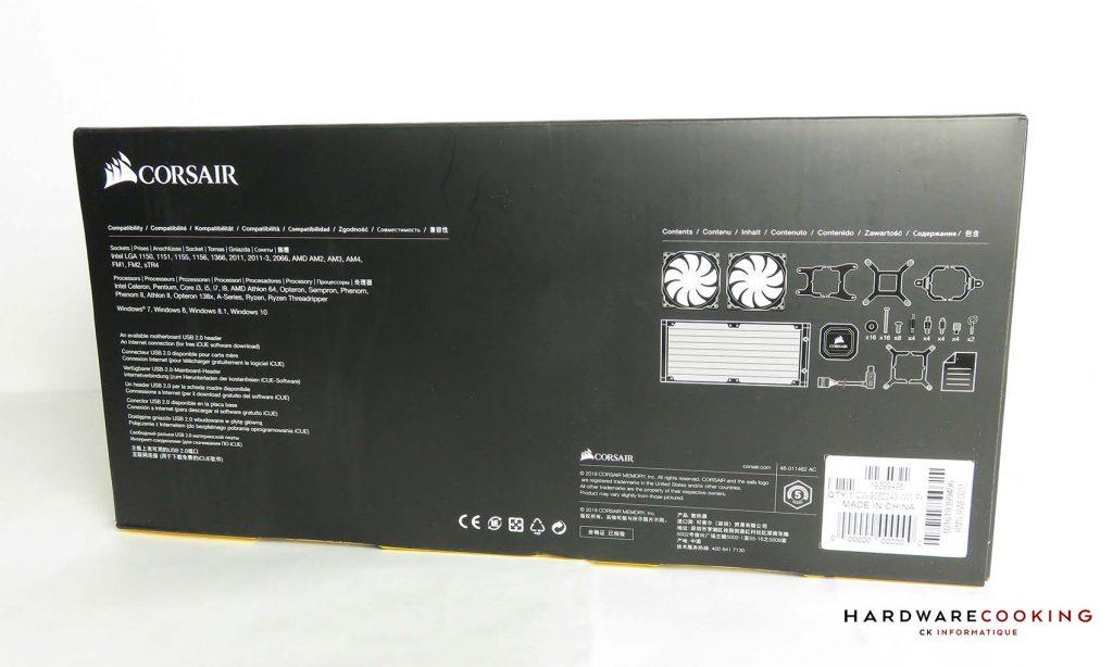 Corsair iCUE H100i RGB Pro XT boîte