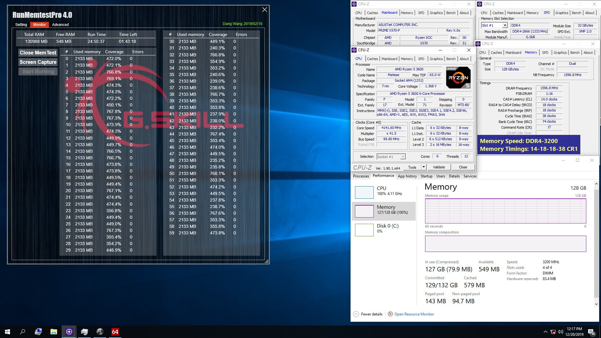 G.Skill DDR4-3200 CL14 3600