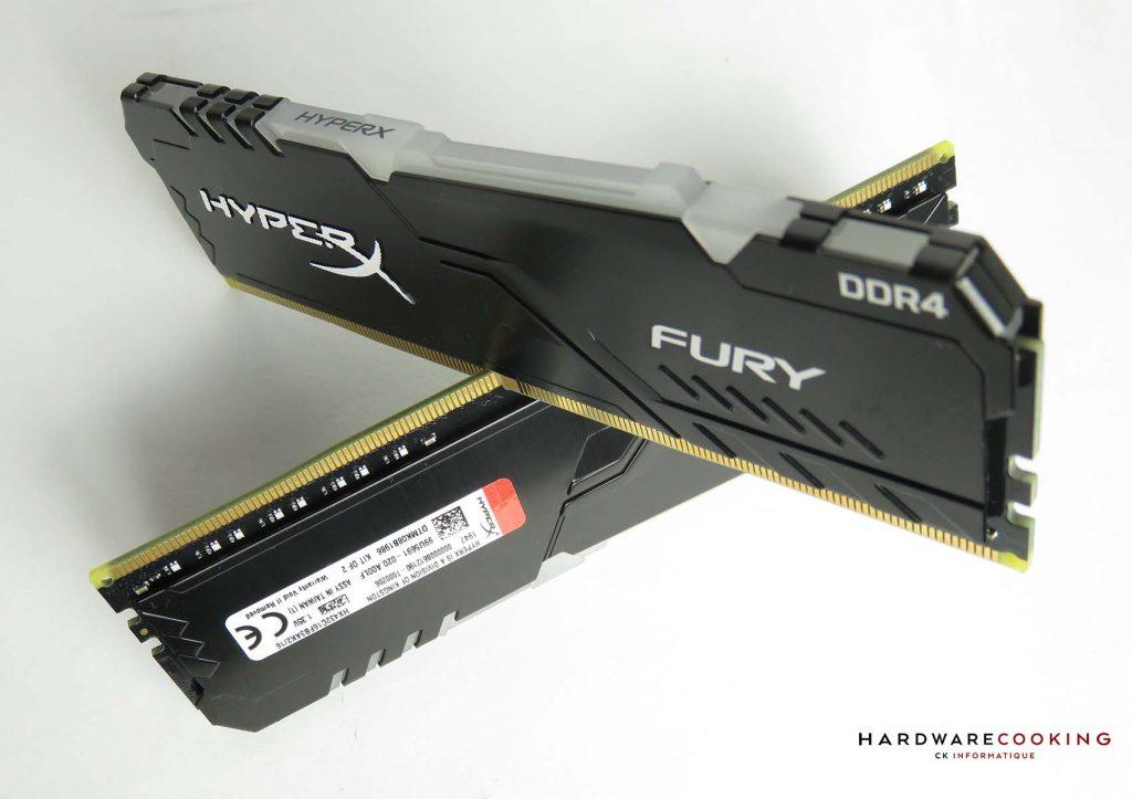 test DDR4 HyperX Fury RGB