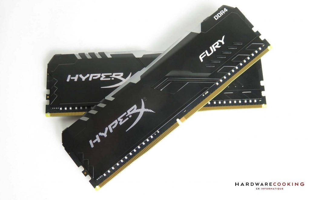 HyperX Fury RGB vue face croisée