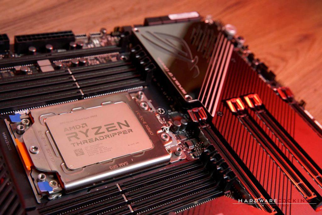 Processeur AMD Ryzen Threadripper 3960X sur ASUS ROG Zenith II Extreme
