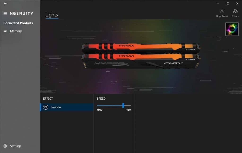 HyperX Fury RGB 3200 Ngenuity