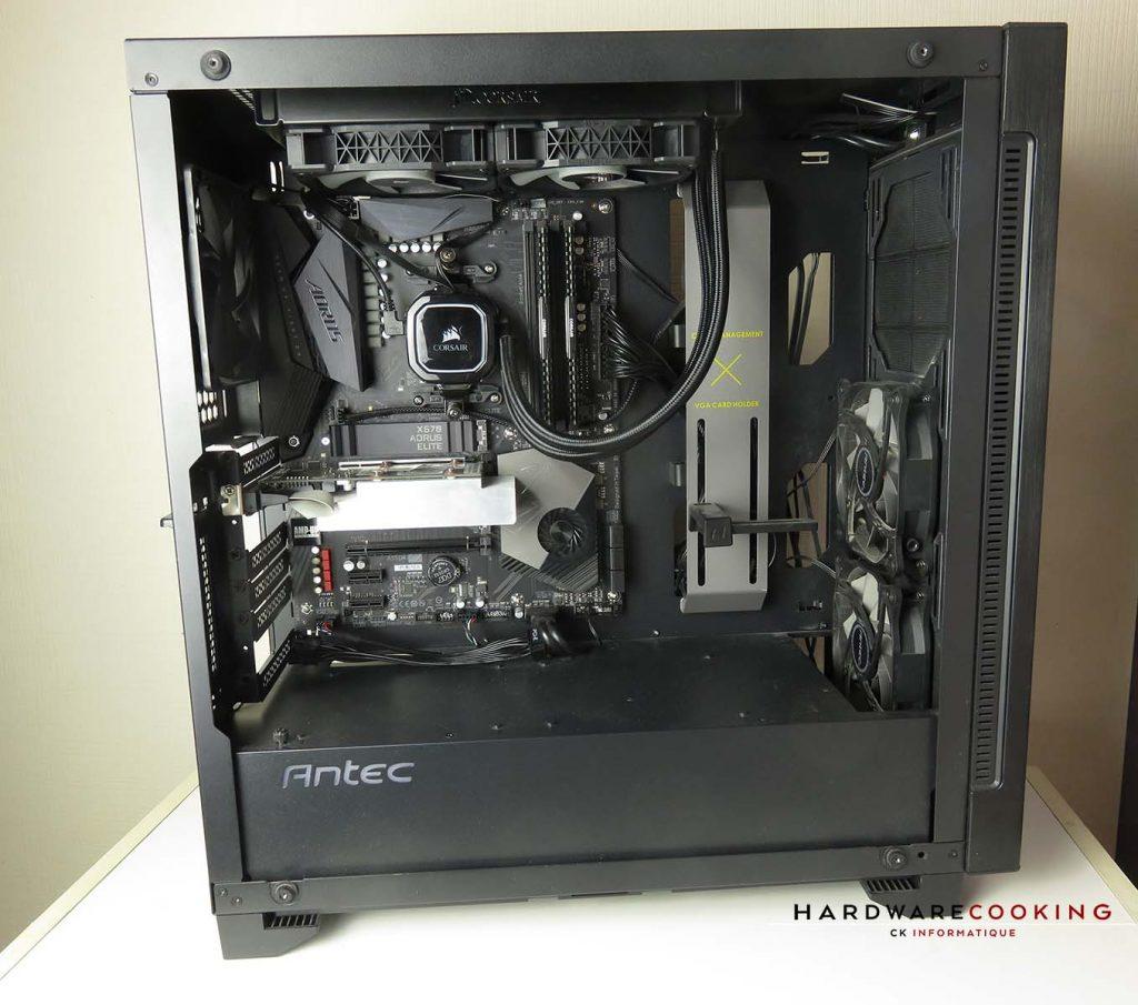 Vue générale configuration de test AMD
