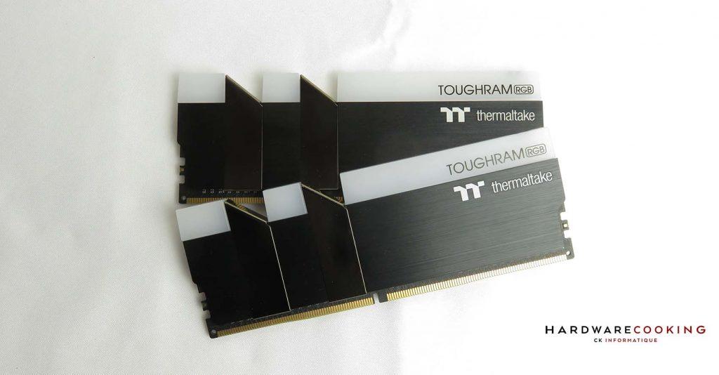 test mémoire Thermaltake Toughram RGB 3600 MHz