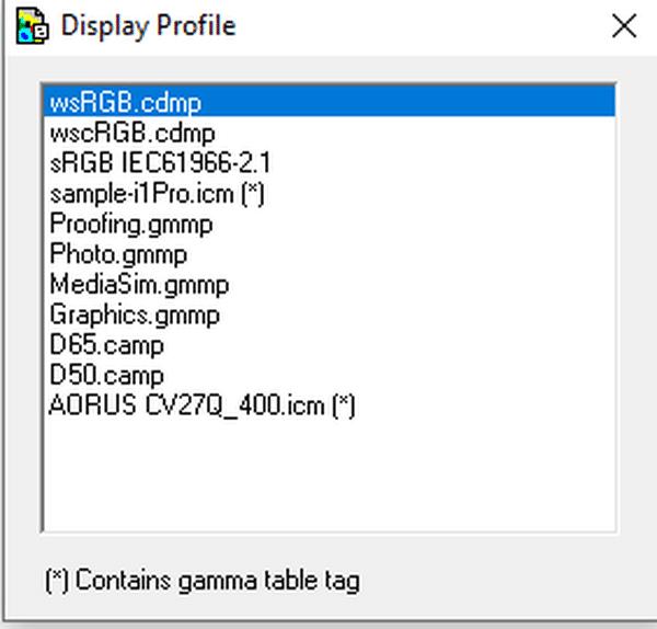 DisplayProfile