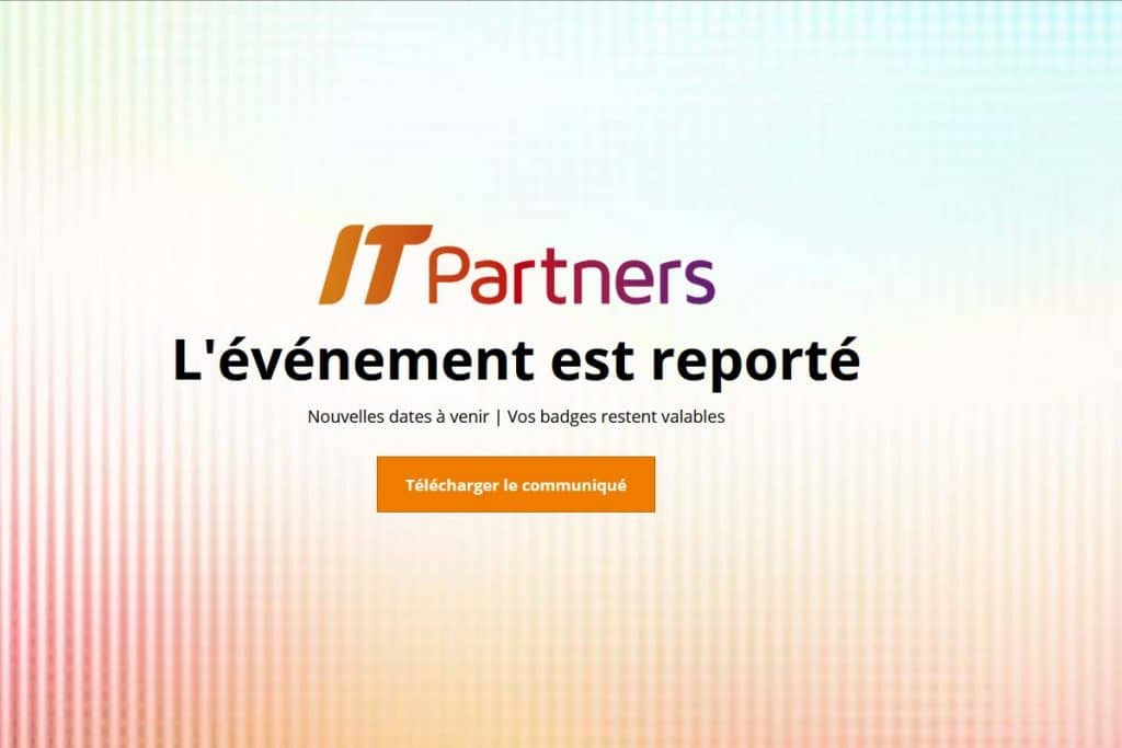 Report de l'IT Partners 2020