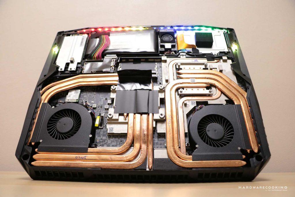 Systéme de refroidissement MSI GT76 Titan DT 9SG-016FR Thermal Throttling