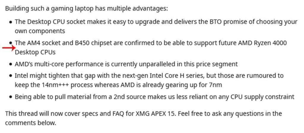 AMD Ryzen 4000 Chipset B450 compatibilité
