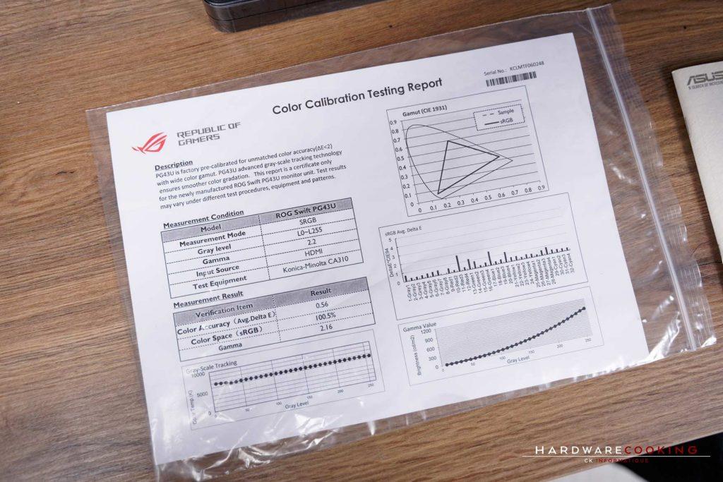 rapport de calibration