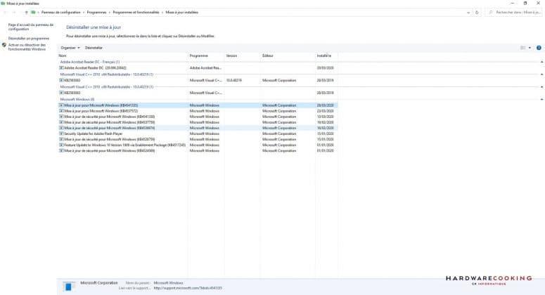 Windows 10 : la mise à jour KB4541335