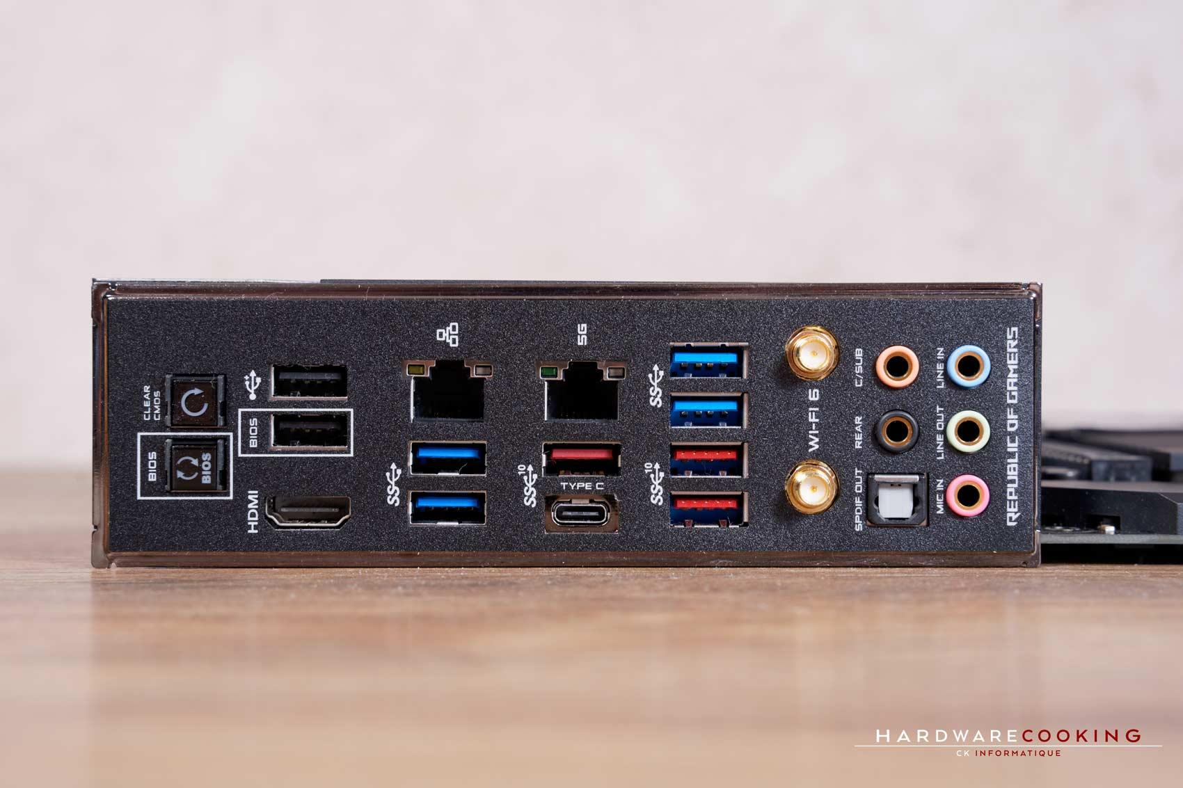 connectique arrière