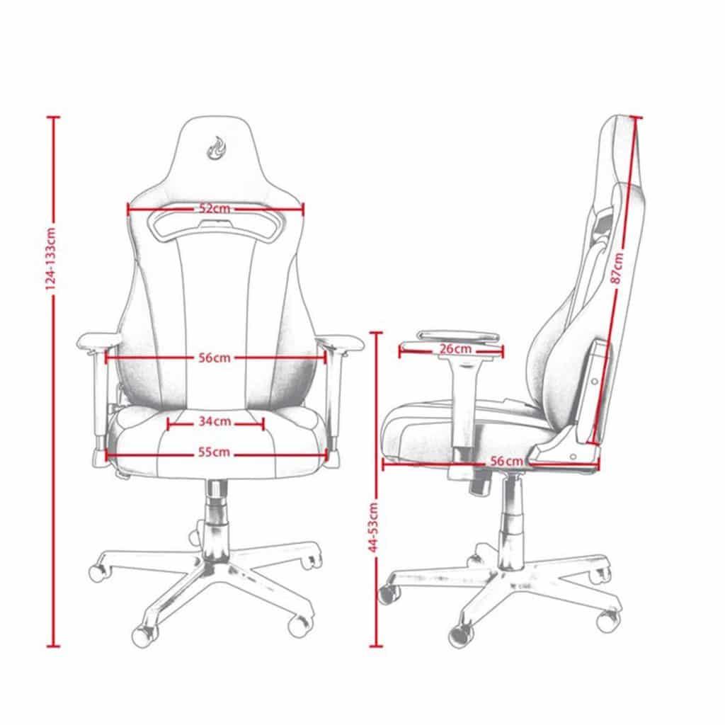 Nitro Concepts E250 dimensions