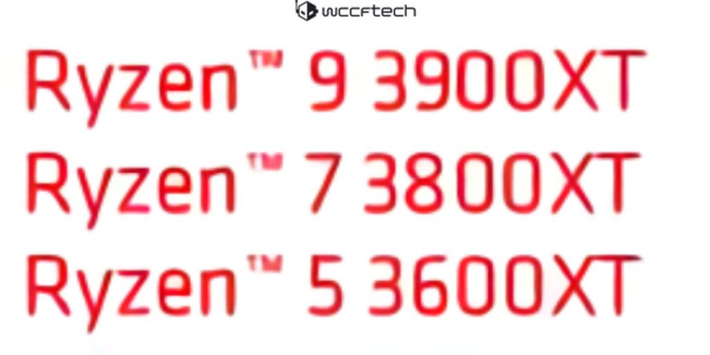 processeur AMD Ryzen 9 3900XT 3800XT 3600XT