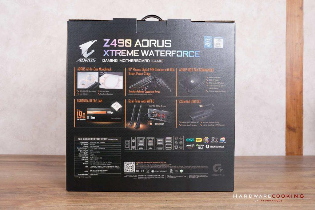 boîte Z490 AORUS XTREME WATERFORCE