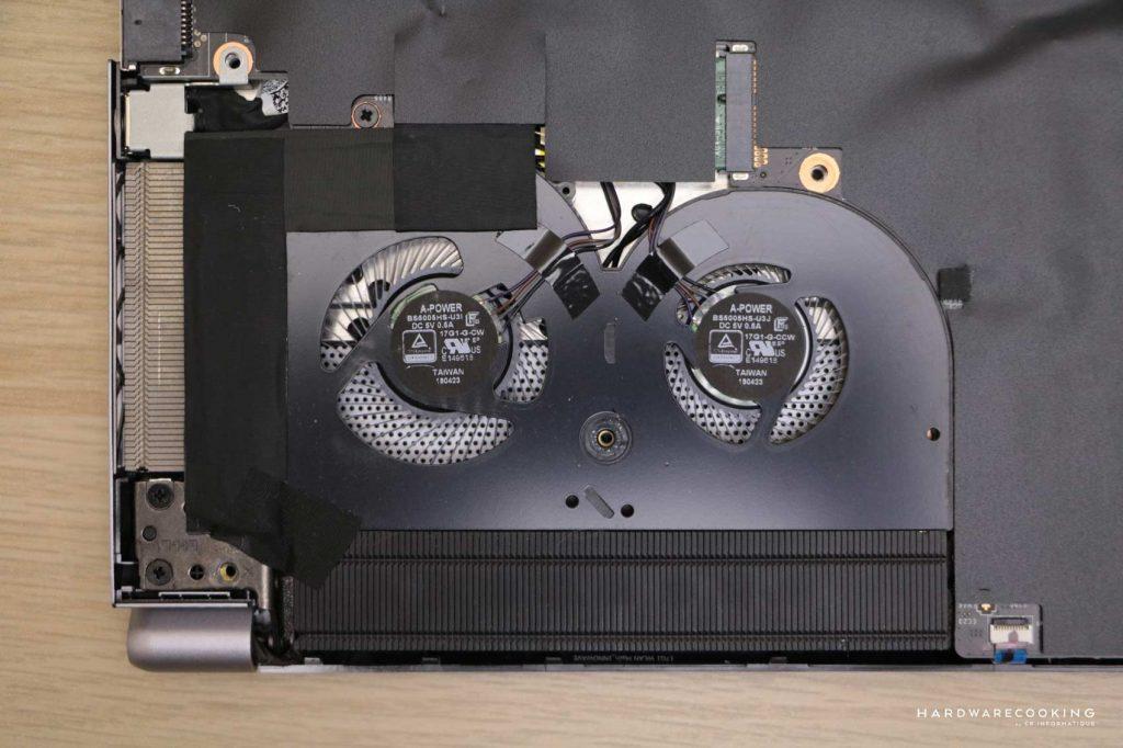 intérieur MSI P75 Creator 9SF-866FR