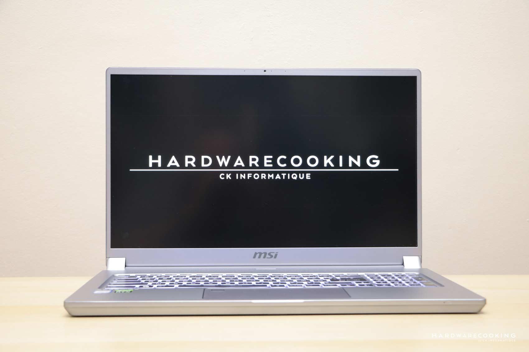 test laptop MSI P75 Creator 9SF-866FR