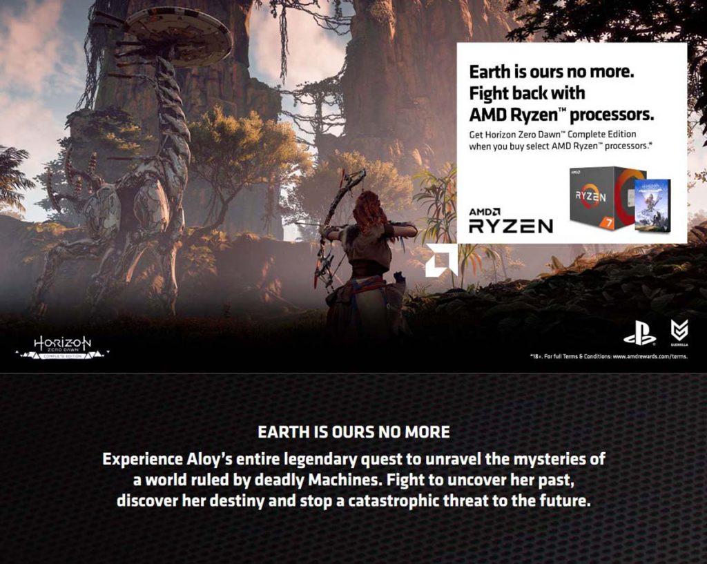 Bundle AMD Ryzen Horizon Zero Dawn