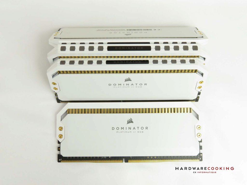 Test CORSAIR Dominator Platinum White 4 x 8 Go 3200 MHz