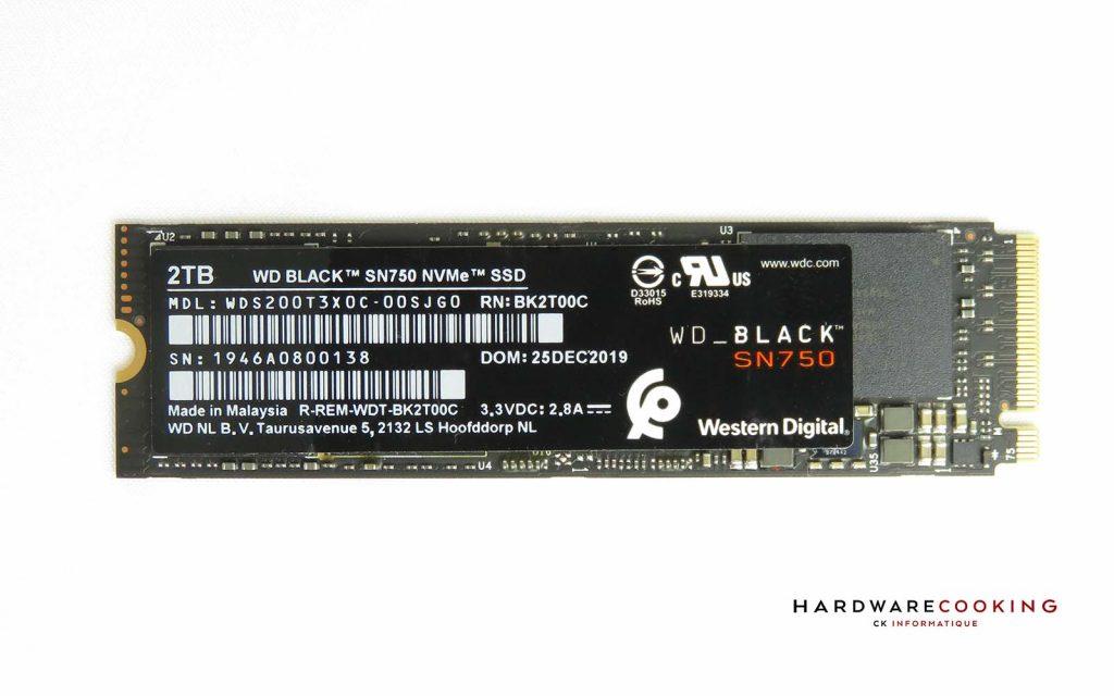 Test SSD WD_BLACK SN750 2 To