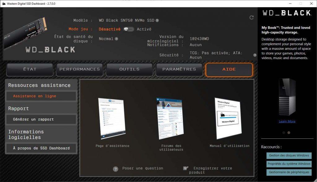 Western Digital SSD Dashboard Aide