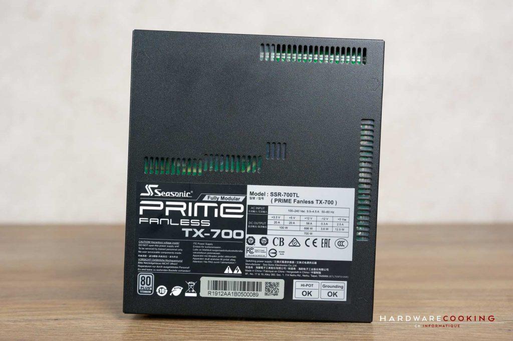 Test Seasonic PRIME Fanless TX-700