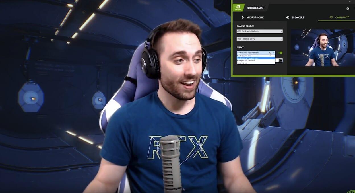 logiciel streaming Nvidia Broadcast