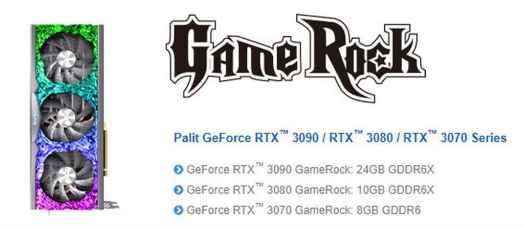 PALIT GeFroce RTX 3090 GameRock