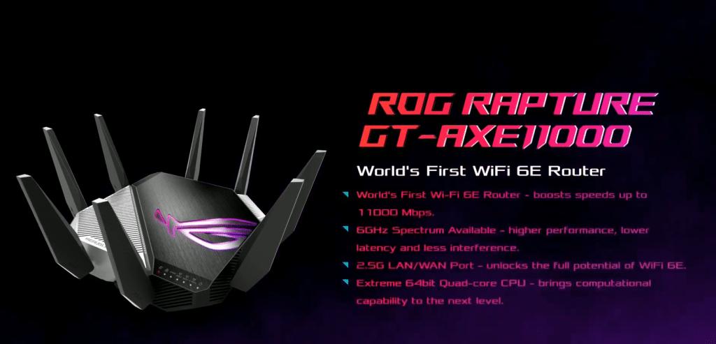 Routeur ASUS ROG Rapture GT AXE-11000