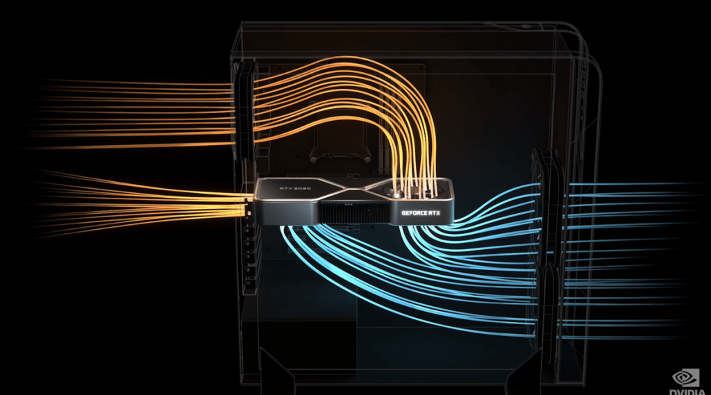 Flux d'air Nvidia RTX 3000 FE