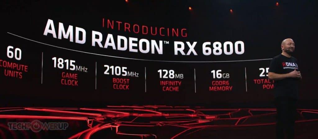 annonce AMD Radeon RX 6800