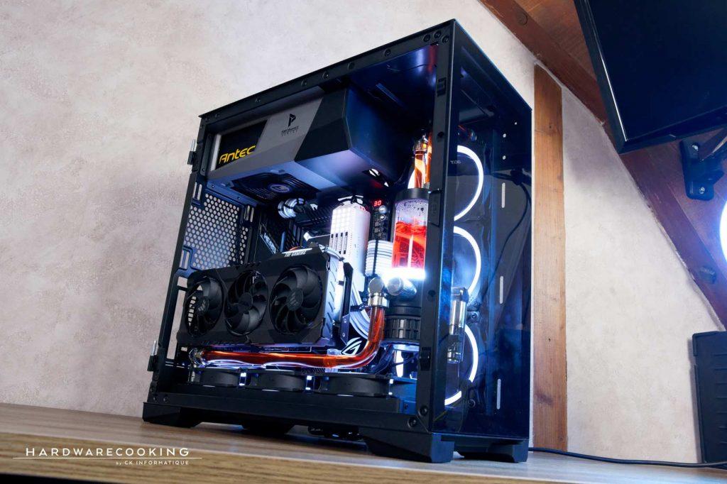 build hardwarecooking watercooling custom ROG Elite P120