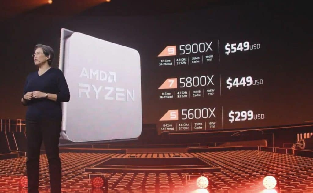 Prix AMD Ryzen 5000
