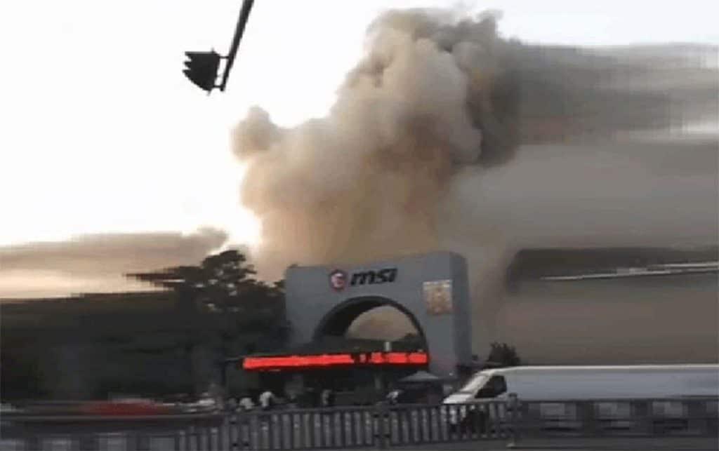 Incendie usine chinoise MSI