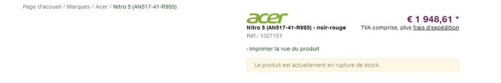 Acer Nitro 5 RTX 3080