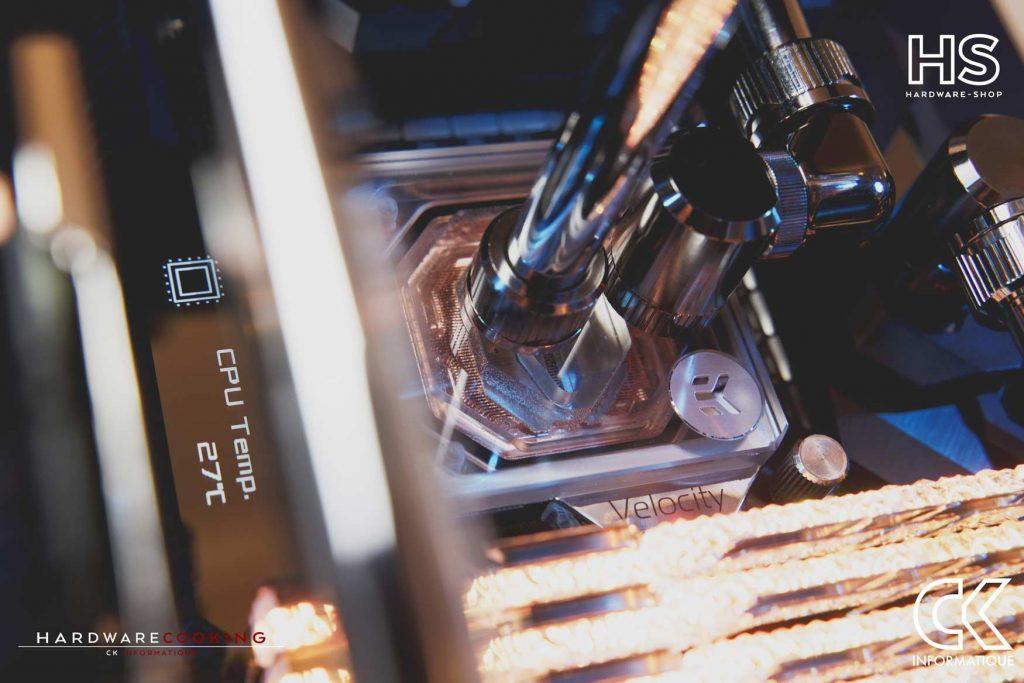 Build DPS watercooling custom Hardwarecooking CK Informatique EKWB Velocity