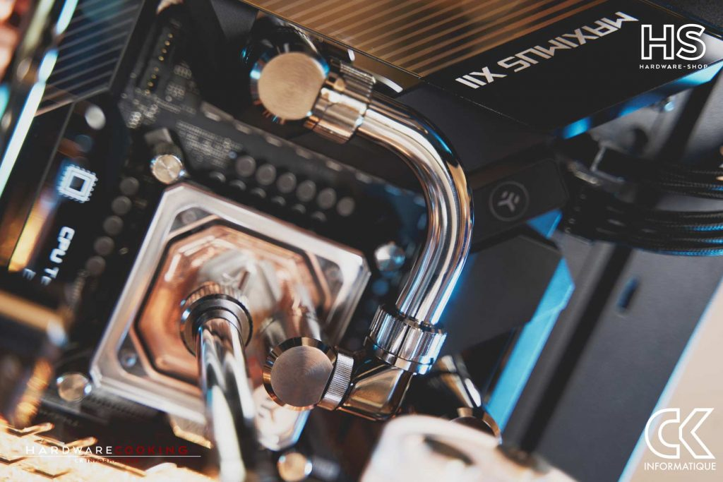 Build DPS watercooling custom Hardwarecooking CK Informatique ASUS ROG MAXIMUS XII FORMULA