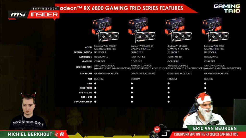 MSI Radeon RX 6800 Gaming Series