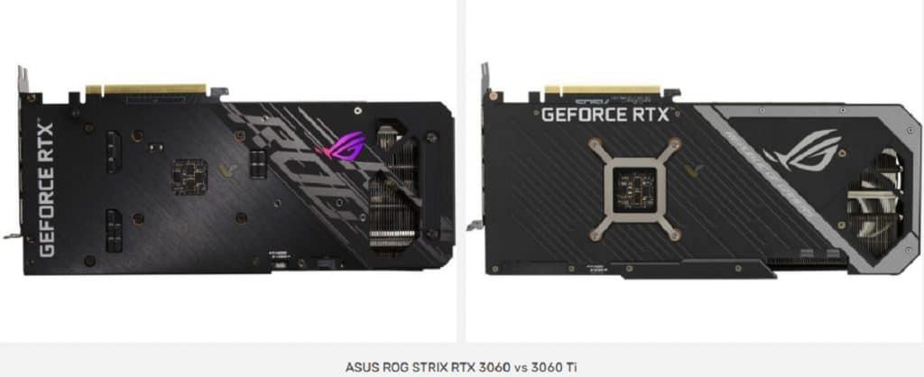 ASUS ROG STRIX GeForce RTX 3060 vs 3060 Ti