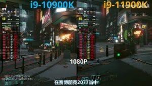 Benchmark Intel i9-11900K VS 10900K CyberPunk 2077